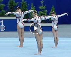 Queste ginnaste ucraine rompono la barriera dell'impossibile!!! Guardate il video per scoprire cosa sono capaci di fare!!!